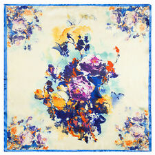 "Women's NEw Fashion Flower Printed Square Kerchief Small Scarf 23""*23"""
