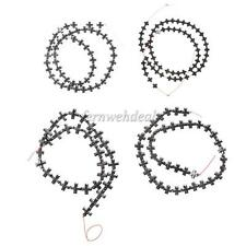 Jewelry Making Craft Cross Black Hematite Gemstone Beads Strand