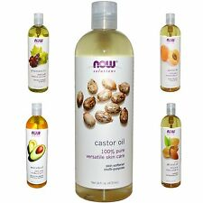 Castor Oil Essential Oil Pure Organic 100% Cold Pressed Now Foods Solutions 16oz