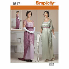 Simplicity 1517 Sewing PATTERN Edwardian Cosplay Costume W 6-12 Downton Abbey