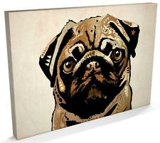 Pug Dog Pop Art Print, Box CANVAS A3 to A1 -v004