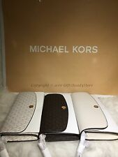 NEW Michael Kors Juliana Large MK Monogram Logo 3 in 1 Flap Wallet $168