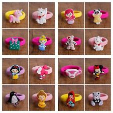 30pcs/lot Kids Baby Girls silicone cartoon Hair Ties Bands Rope Ponytail Holders