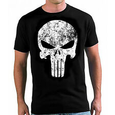"MARVEL COMICS ""THE PUNISHER"" SKULL DISTRESSED VINTAGE T SHIRT SIZES S-XL"