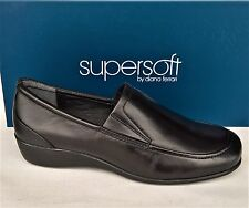 Supersoft Diana Ferrari New wedge slip on Shoes all leather - Phantom