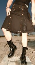 LIP SERVICE - STEP IN TIME CARGO POCKET KILT STEAMPUNK - WAIST 30