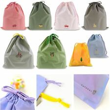 Waterproof Laundry Shoe Travel Pouch Portable Tote Drawstring Storage Bag JE