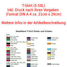T-Shirt printed create your own,with pressure Printed Adults to 5XL Children