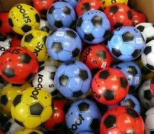 "PLASTIC FOOTBALLS 8.5"" FLAT PACKED UN-INFLATED"