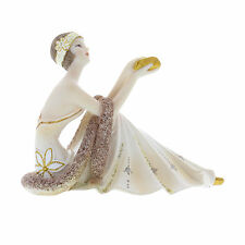 Juliana Art Deco Broadway Belles Cream /Gold Lady Figurine / Ornament.New. 58437