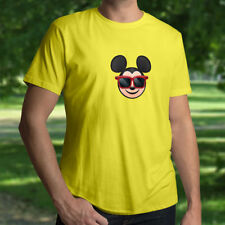 Disney Cool Sunglasses Shades Mickey Mouse Cute Emoji Mens Unisex Tee T-Shirt