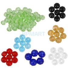 50pcs New Faceted Rondelle Glass Crystal 4mm Loose Spacer Beads Jewelry Gift
