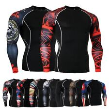 Sports Compression Tops Base Layer Under Long Sleeve T-Shirts Sports Jersey Men