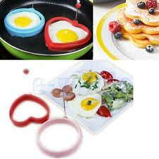 Silicone Omelette Pancake Poach Mould Ring Fried Egg Shaper Cooking Kitchen GL