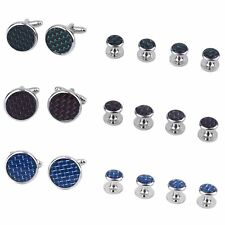 XK0001/2/3/5 6 Pcs Men Classic Clothes Cufflinks Stainless Steel Cuff Links BE
