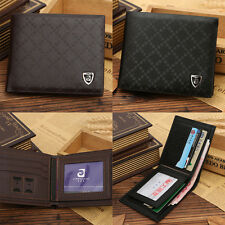 JINBAOLAI MENS LUXURY SOFT BUSINESS LEATHER BIFOLD WALLET CREDIT CARD HOLDER BE