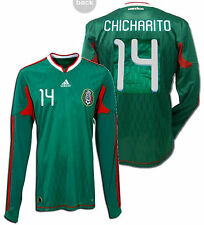 ADIDAS CHICHARITO MEXICO LONG SLEEVE HOME JERSEY FIFA WORLD CUP 2010.