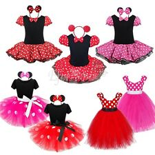 Baby Toddler Girl Minnie Mouse Costume Party Outfit Xmas Fancy Tutu Dress up