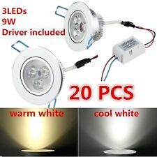 Lot 9W LED Downlight Recessed Ceiling Light Lamp cool/warm white+Driver AR