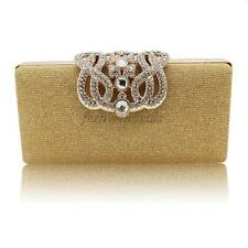 Women Bling Evening Clutch Bag Crystal Rhinestone Bridal Wedding Handbag Purse