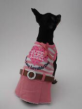Small Dog clothing puppy Chihuahua clothes angel Yorkie outfit dress Size XS