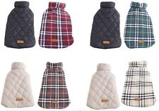 Dog Plaid Vest Reversible Warm Winter Jacket Coat British Style Furry Collar