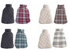 Dog Coat Vest Reversible Plaid Warm Waterproof Windproof Jacket British Style