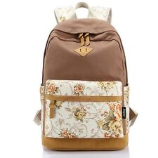 New Floral Printing Satchel Rucksack Backpacks School Bags For Girls