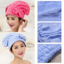 Coral  Velvet Multi-color Drying Wrap Bow Quick Dry Cap Hair Towels