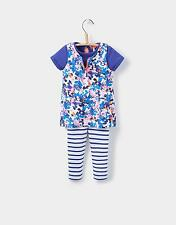 Joules Baby Girls Joyce Pinafore T-Shirt & Leggings Set from Cotton in Ditsy