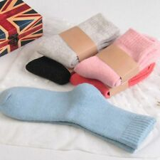 Comfortable Soft Pure Solid Women Socks Thicken Wool Cotton