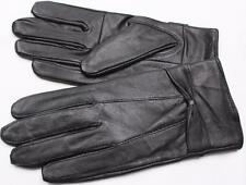 BLACK WOMEN'S LAMBSKIN LEATHER WINTER DRIVING EVERYDAY GLOVES BOW S M XL