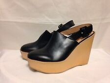 Robert Clergerie French Wedge Heel Slingback High Heel 9 Black  New w/Defects