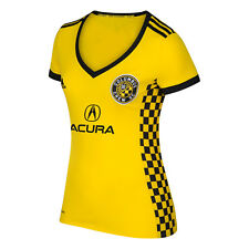 adidas Columbus Crew MLS 2017 Womens Soccer Home Jersey White / Red /Yellow