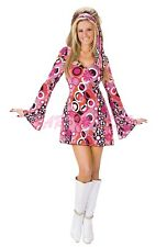 OP Ladies Costume Fancy Dress 90s 70s (4018) Retro Hippie Disco Go Go sz 8-14