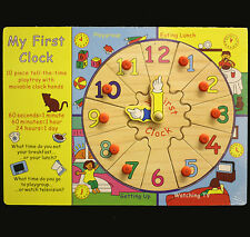 MY FIRST CLOCK WOODEN PUZZLE NEW, GIFT IDEA,KIDS THE TIME FUN. LEARN TO TELL
