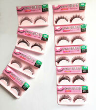 10 Pairs Long Cross False Eyelashes Makeup Natural Fake Thick Eye Lashes 06z