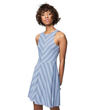 aeropostale womens prince & fox striped high neck fit & flare dress