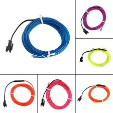 Colorful 2m Flexible EL Wire Tube Rope Neon Light DC 12V Car Party Bar Decor RE