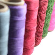 50M 1mm Waxed Wax Cotton Cord String Leather Craft Linen Thread Jewelry Bracelet