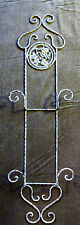 Ivory Twisted Iron Vertical Plate Wall Rack, Dish Holder Display Shabby Chic