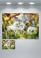 Unicorn Fantasy Kids Wall Art Poster Print A3/A4 Sections or Giant 1 Piece