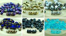 NEW SHAPE 20pcs Czech Glass Hill Beads Half Round Faceted Fire Polished 8mm