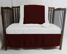 Nursery Bedding Set Crib/Cradle/Toddler Fitted Two Pleat Skirt Quilt Bumper