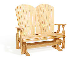 Amish Handcrafted Patio Glider Fanback Pressure Treated Kiln Dried Wood