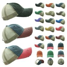 Baseball Cap Distressed Vintage Mesh Trucker Fashion Caps Unisex Hat Solid Visor