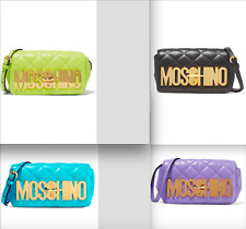 Moschino Couture X Jeremy Scott Lined Quilted Leather Shoulder Bag MSRP $1295