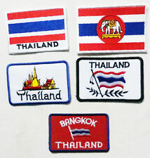 Embroidered Sew / Iron On Patch Badge Applique 4 Designs Thailand + EXTRA!