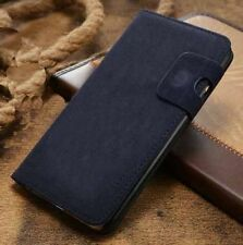 Magnetic Blue Magnetic Flip Wallet Swede Leather Case For Iphone 6Plus {[nm10