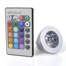 GU10 E27 MR16 3W LED RGB 16 Colors Changing Light Bulb Lamp with Remote Control